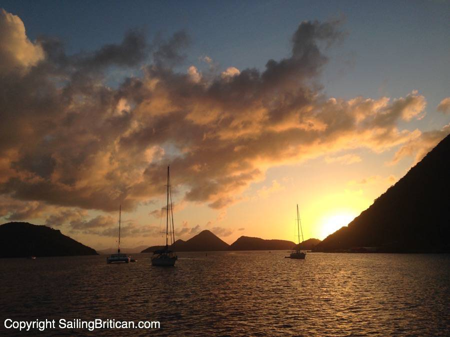 Sailing around the British Virgin Islands